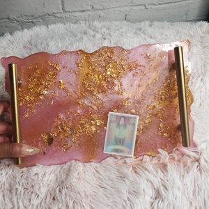 Magician Tarot Pink Gold Vanity Tray w handles